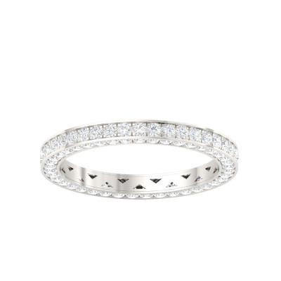 Single Line Eternity Gold Ring